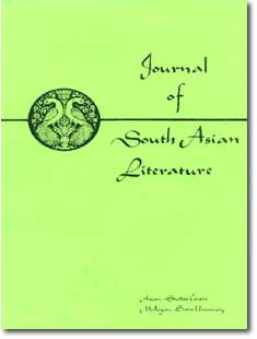 Journal of South Asian Literature cover