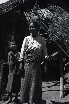 [A Burmese Woman and Boy]