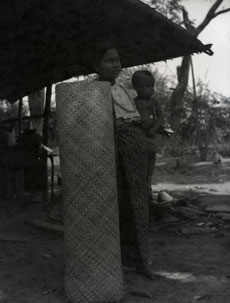 [A Burmese Woman and Child]