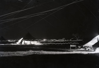 [A Time-Exposure Shot of the Camp Area]
