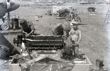 [The Mechanics Unpacking an Engine]