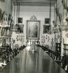 [The Formal Dining Room at the Palace of the Maharajah]