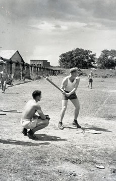[An Airbase Baseball Game]