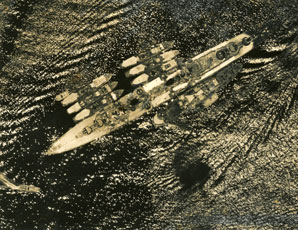 [An Aerial Shot of a Japanese Ship]