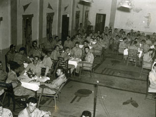 [The Red Cross Sponsors a Dinner for the 40th Photo Reconnaissance Squadron]