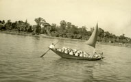 [A Vessel Carries Clay Pots Down the Hooghly River]