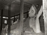 [A Buddha in a Burmese Temple]