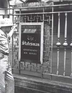 [Calcutta Statesman newspaper office]