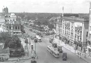 [Chowringee and tram terminus]