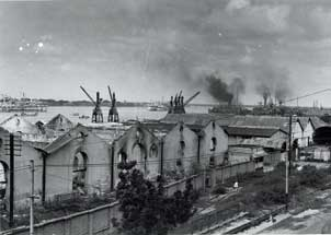 [Remnants of Rangoon harbor]