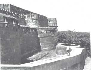 [Southwest wall and moat]