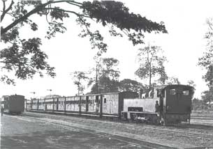[Narrow gauge passenger train]