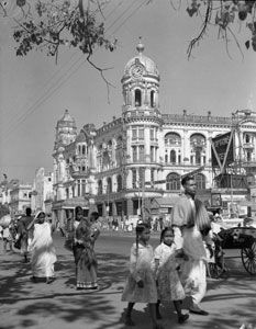 [Calcutta's business district]