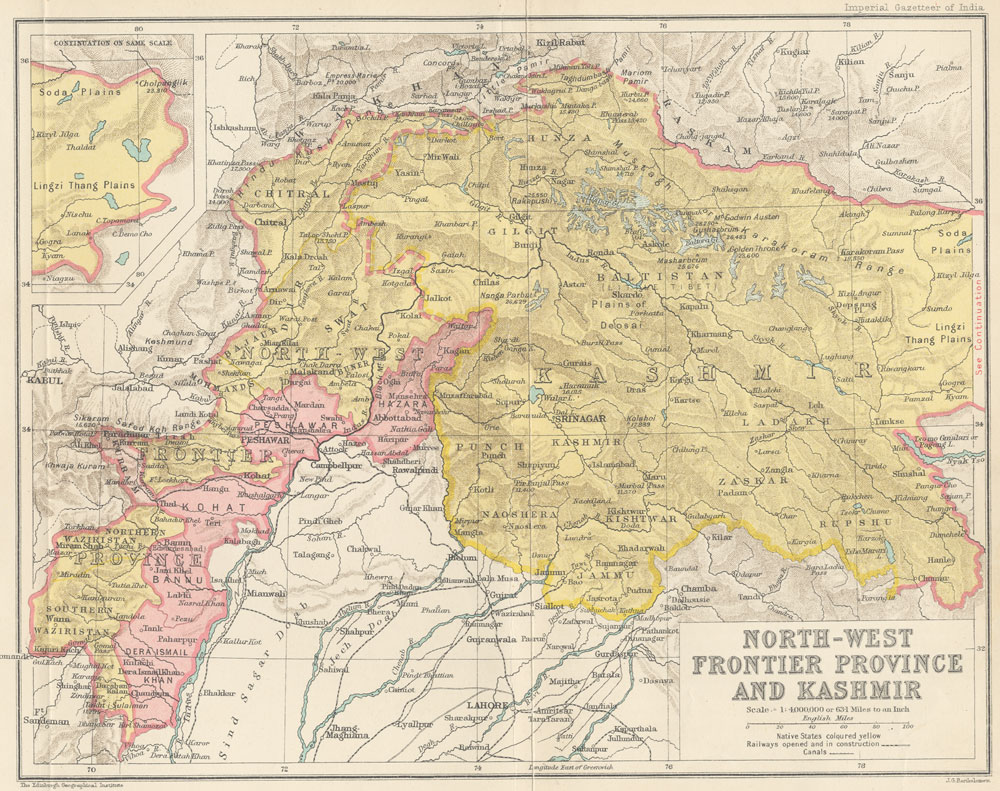 North-West Frontier Provinence and Kashmir