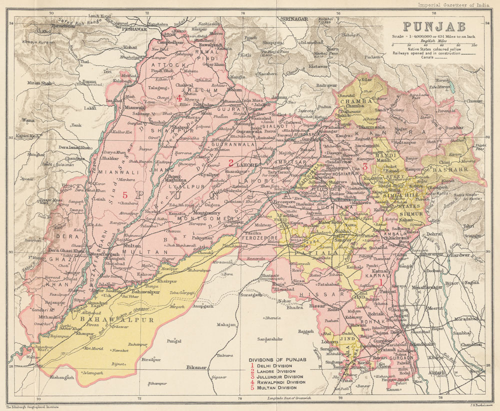 WHKMLA History Of The Punjab - Map of united provinces india