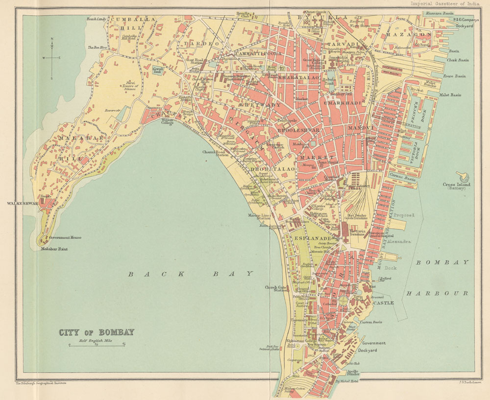 Mumbai On Map Of Asia.The Digital South Asia Library